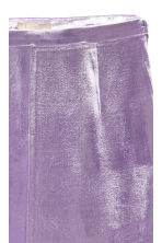 Silk-blend velvet skirt - Purple - Ladies | H&M GB 2