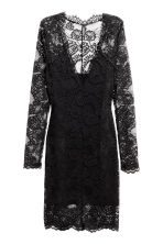 Short lace dress - Black - Ladies | H&M 2
