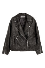 Giubbotto biker oversize - Nero/glitter - DONNA | H&M IT 2