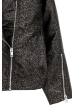 Giubbotto biker oversize - Nero/glitter - DONNA | H&M IT 3