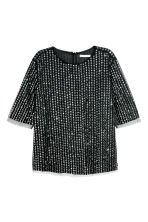 Sequined blouse - Black - Ladies | H&M CN 2