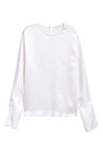 Silk blouse - White - Ladies | H&M 1