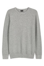Cotton jumper - Grey marl - Men | H&M CN 2