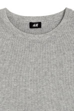 Cotton jumper - Grey marl - Men | H&M CN 3