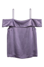 Top a spalle scoperte - Viola - DONNA | H&M IT 1