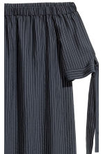 Lyocell-blend tunic - Black/Striped - Ladies | H&M CN 2