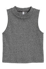 Crop vest top - Dark grey marl - Ladies | H&M CN 2