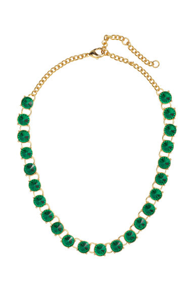 Short necklace - Green/Gold - Ladies | H&M CN