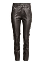 Leather trousers - Black - Ladies | H&M CN 2