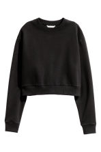Short sweatshirt - Black - Ladies | H&M 2