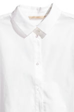 Premium cotton shirt - White - Ladies | H&M CA 4