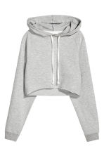 短版連帽上衣 - Grey marl - Ladies | H&M 3