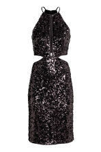 Sequined dress - Black - Ladies | H&M CN 2