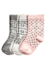 3-pack socks - Light pink - Kids | H&M CN 2
