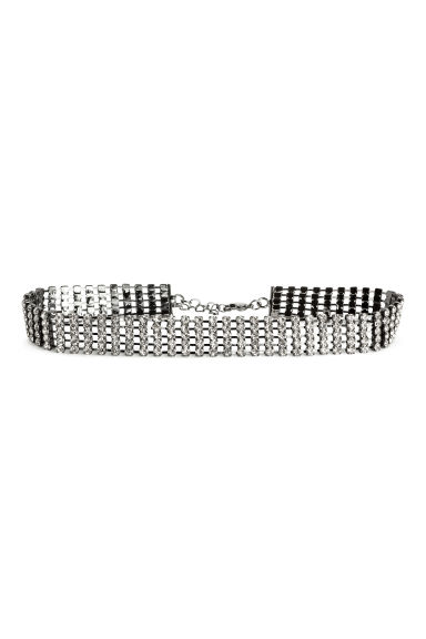 Choker with sparkly stones - Silver - Ladies | H&M CN 1