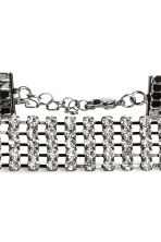Collana corta con strass - Argentato - DONNA | H&M IT 2