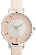 Watch with a leather strap - Powder beige - Ladies | H&M IE 3