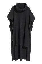 Ribbed poncho - Black - Ladies | H&M CN 2