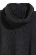 Ribbed poncho - Black - Ladies | H&M CN 3