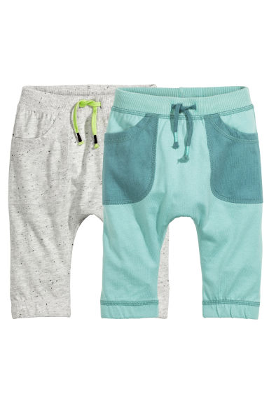 2-pack jersey trousers - Light grey marl - Kids | H&M CN 1
