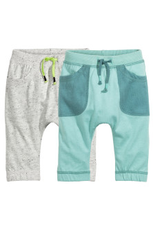 2-pack jersey trousers
