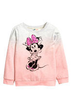 Sweat avec impression - Rose clair/Minnie - ENFANT | H&M FR 2