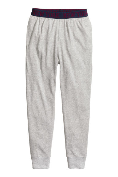 Pyjama bottoms - Grey marl - Kids | H&M CN 1