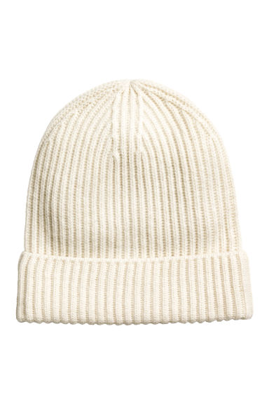 Cashmere-blend hat - Natural white - Ladies | H&M CN 1