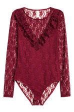 Lace body - Dark red - Ladies | H&M CN 2