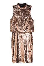Abito di paillettes - Bronzato - DONNA | H&M IT 2
