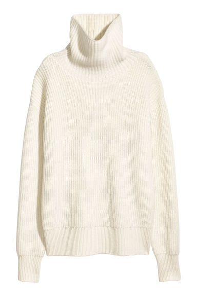 Cashmere-blend jumper - Natural white - Ladies | H&M CN