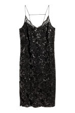 Abito in pizzo con paillettes - Nero - DONNA | H&M IT 2