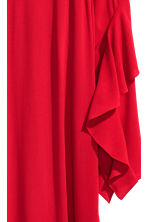 Crêpe dress with flounces - Dark red - Ladies | H&M CN 3