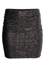 Sequined skirt - Black - Ladies | H&M CN 2