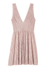 Pleated dress - 浅暗粉红 - Ladies | H&M CN 2