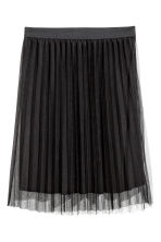 Pleated tulle skirt - Black - Ladies | H&M CA 2