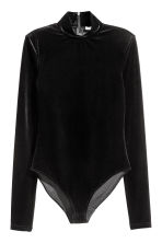 Body in velour - Nero - DONNA | H&M IT 2