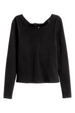 Top with a back opening - Black - Ladies | H&M CN 1