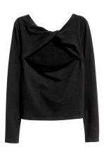 Top with a back opening - Black - Ladies | H&M CN 2