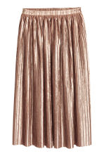 Pleated skirt - Powder beige - Ladies | H&M CN 2