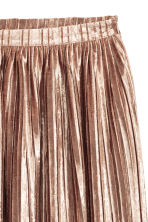 Pleated skirt - Powder beige - Ladies | H&M CN 3