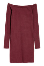 Off-the-shoulder dress - Burgundy - Ladies | H&M CN 1