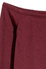 Off-the-shoulder dress - Burgundy - Ladies | H&M CN 2