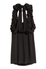 Frilled dress - Black - Ladies | H&M CN 3