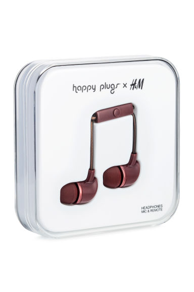 In-ear koptelefoon - Donker bordeauxrood -  | H&M NL 1