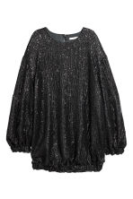Robe à paillettes - Noir -  | H&M BE 2