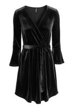Abito incrociato - Nero - DONNA | H&M IT 2