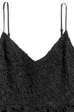 Short lace dress - Black - Ladies | H&M CN 3
