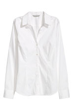 Stretch shirt - White - Ladies | H&M 2