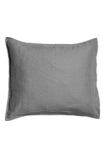 Washed linen pillowcase - Grey - Home All | H&M CN 2